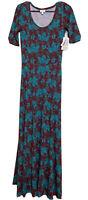 Lularoe Ana Dress Size Small Multicolor Long Maxi Boho New S Floral
