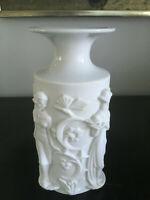 Vintage Mid Century Modern German Konigl PR Tettau White Porcelain Figure Vase