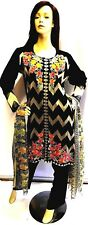 Shalwar kameez eid black pakistani indian designer salwar sari abaya suit uk 22
