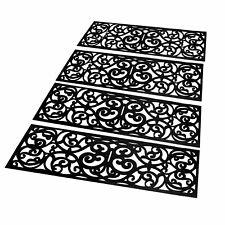 Set of 4 Rubber Stair Treads Non-Slip Indoor & Outdoor Door Mats M&W