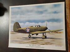 Vntg WW2 Flying Magazine Poster Insert Premium 8x10 Bell Airacobra P-39
