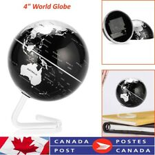"4"" World Globe  Rotating Earth Map Geography Kids Learning Home Desktop Decor"