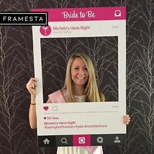 Hen's Party Photo Booth Props (60 x 90 cm)