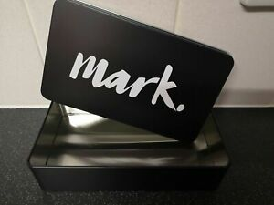 Avon Mark.Black Vanity Make Up Storage Tin/Gift Tin/ New