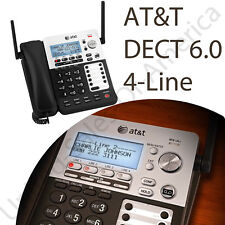 At&T Corded Phone System Answering Machine Dect 6.0 Caller Id Waiting Expandable