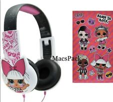 LOL SURPRISE DOLL KID SAFE WIRED HEADPHONES STICKERS birthday gift