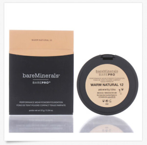 BareMinerals BarePro Performance Wear Powder Foundation 12 Warm Natural 0.34oz