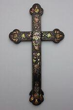 Crucifix avec Nacre dépôts, la Chine, 19. siècle