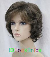 Ladies wig Short Curly Women Hair Fancy Dress party Cosplay wigs +wig cap
