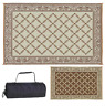 Indoor Outdoor Patio Mat RV Reversible Camping Picnic Carpet Deck Rug Pad Decor