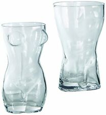 Beer glass women and men's torso in a set . Approx. 420ml drinking glass