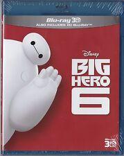 Big Hero 6 Disney ( 3D + 2D  Blu-ray) - NEW Sealed Region Free