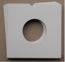"50 7"" WHITE CARD RECORD SLEEVES / MASTERBAGS / COVERS"
