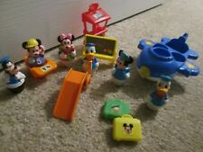 Vintage Disney Arco Mickey Mouse Plane with figures
