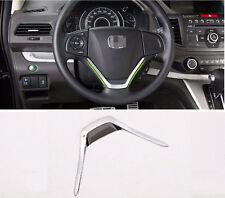 For Honda CR-V CRV 2012-2015 Steering Wheel Chrome Cover Insert Kit U Shape Trim