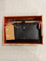 NWT The Sak Iris Large Smartphone Crossbody Wallet Wristlet 3-in-1 Leather Black