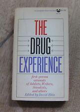 THE DRUGS EXPERIENCE by Ebin Burroughs Huxley Cocteau 1st PB heroin LSD OPIUM