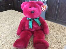 Ty Beanie Buddy - TEDDY CRANBERRY  - 1998 - MWMT