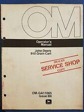 John Deere 910 Grain Cart - Operator's Manual - Dealer Service Shop Copy