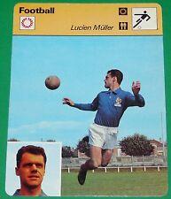 FOOTBALL LUCIEN MÜLLER 1960 FRANCE STADE DE REIMS REAL MADRID FC BARCELONA