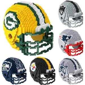 NFL Football 3D BRXLZ Mini Helmet Puzzle Construction Block Set - Pick Team!
