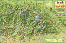 San Gabriel Mountain Trail Map Laminated Franko Maps