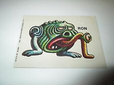 Vintage Topps Chewing Gum Inc. Sticker RON Alien Creature