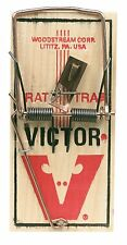 Victor Metal Pedal Snap Rat Trap, Spring Action, Wood Base