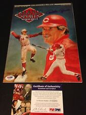 Pete Rose Reds 1992 Legends Sports Magazine Mag Signed Auto PSA/DNA COA