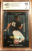 💪GRADED BECKETT 10 MINT RC GIANCARLO STANTON (BCCG) 2008 DONRUSS ELITE MIKE NYY