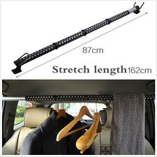 1 Pcs Expandable In-Car Clothes Hanger Rod Bar Classic Black Garment Rack Holder
