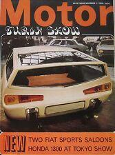 Motor magazine 9/11/1968 featuring Honda N600 road test, Turin Motor Show, Fiat