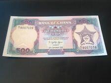 500 Ghana Cedis banknote dated 1991 UNC