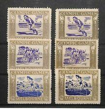 AUSTRALIA Melbourne 1956 Summer Olympics Labels {6} {samwells} S124
