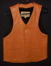 Vtg Deer Skin Vest Mid Western Sport Togs Faux Fur Liner Western Style 38