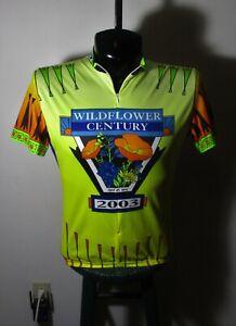 Men's VOLER Yellow 3/4 Zip Short Sleeve Cycling Jersey Size L NWOT