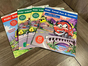 Lot Of 4 Kid's Travel Fun and Games Books by Universal Map