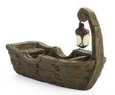 Swamp Boat w Glow in the Dark Lantern GO 17640 Miniature Fairy Garden Dollhouse