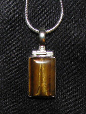 Tiger's tiger eye stone pendant necklace healing jewelry fashionable yellow calm