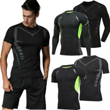 Men Sportswear T shirts Running Shorts Gym Compression Tights Long Pants Shirts