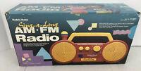 RADIO SHACK Vintage SING-A-LONG 60-2338  AM/FM Radio Kid Toy Boom Box NEW IN BOX