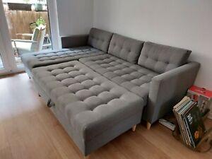 Eck-Couch,mit Schlaffunktion