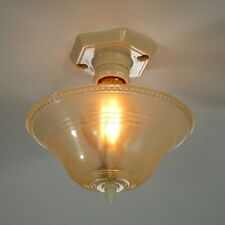 Vintage Plastic Flush Mount Ceiling Light Fixture