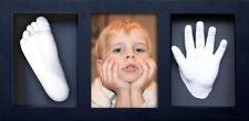 Abformset mit Bilderrahmen Kreativ Set 3D Erinnerung Baby Gibsabdruck Fußabdruck