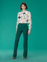 NWT $268 Diane Von Furstenberg Silk Floral-Print Blouse,size 10,Asher Ivory