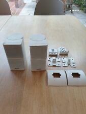 Bose Cube Speakers X2 Double Cube White Surround Sound Satellite 5.1