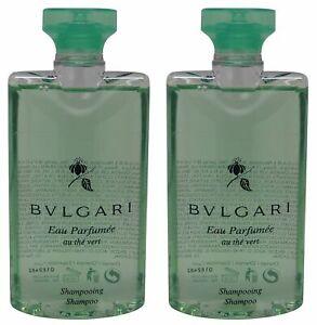 Bvlgari au the vert Green Tea Shampoo lot of 2 each 2.5oz Total of 5oz