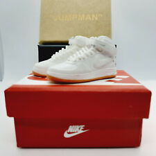 Air force 1 brown white high tops mini kicks sneakers keyring keychain & box