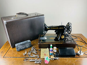 Singer 99k Electric Sewing Machine Semi Industrial Heavy Duty Pedal Tools & Case