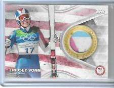 SWEET 2018 TOPPS OLYMPICS LINDSEY VONN 4 COLOR RELIC CARD ~ ALPINE SKIING LEGEND
